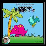 Numbers 0-10 Dinosaur Extinction Bingo