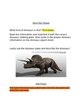 Dino Fact Sheet