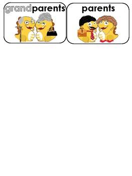 Dino Family Flashcards for VIPKID teachers