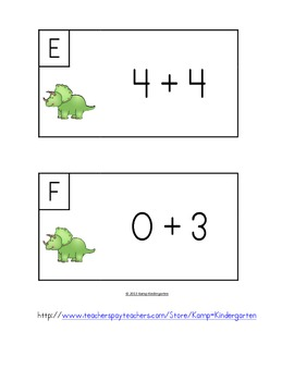 Dinosaur Friends Add the Room (Sums of 0-10)