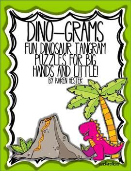 FREE:Tangram Puzzles: Dino-Grams