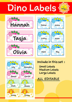 Dino Labels - EDITABLE