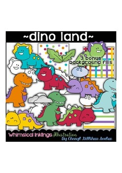 Dino Land Clipart Collection ~ Dinosaurs