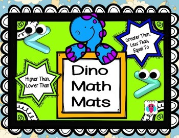 Dino Math Mats- Greater Than, Less Than, Equal To