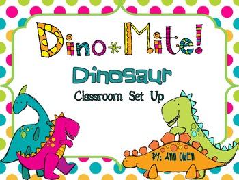 Dino-Mite Dinosaur Classroom Set Up and Decor Fun
