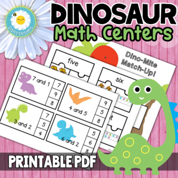 Dino-Mite Math Centers - Dinosaurs