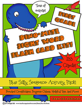 Dino-Mite! Dinosaur-Themed Sight Word Flash Card and Activity Kit, First Grade