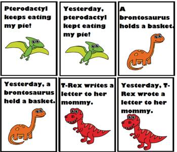 Dino-Mite Irregular Past Tense Verbs (25 Most Common)