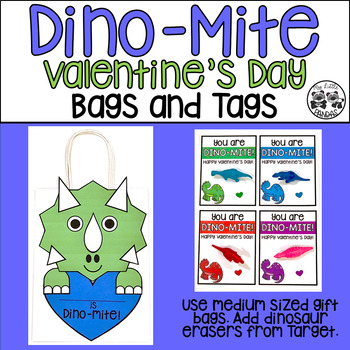 Dino-Mite Valentine's Day Bags and Tags