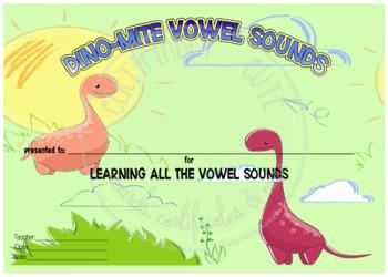 Dino-Mite Vowel Sounds