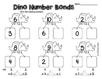 Dino Number Bonds