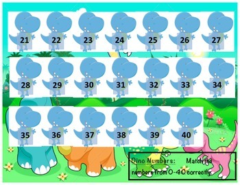 Dino Numbers - Matching