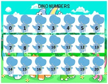 Dino Numbers - Matching