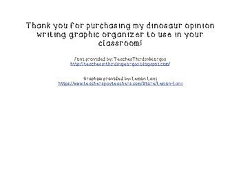 Dino Opinion Graphic Organizer