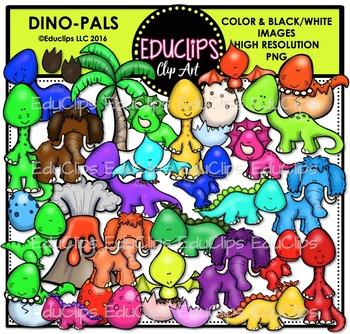 Dino Pals Clip Art Bundle {Educlips Clipart}