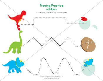 Dino Preschool Pack Giant Set, Printable Worksheets, 20 pages