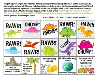 Quick Drill Dinos {for speech therapy or any skill drill}