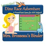 Dino Race Adventure: Dinosaur Themed PowerPoint Review Gam