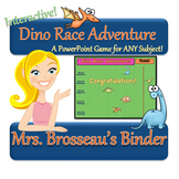 Dino Race Adventure: Dinosaur Themed PowerPoint Review Gam