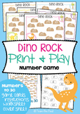 Dino Rock - Printable Math Center / Game / Activity - Numbers to 30