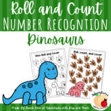 Dino Roll, Count and Cover Activity