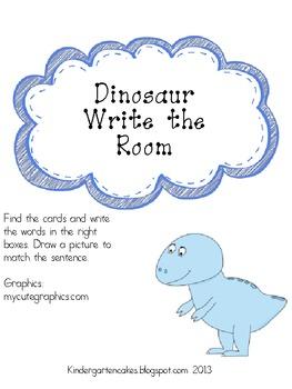 Dino Sentence Write the Room