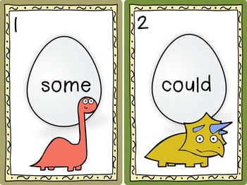 Dino Sight Word Egg Hunts Dolch Levels PP-3