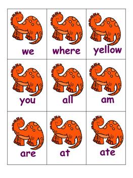 Dino Sight Word