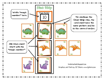 Dino Skip {a game for skip counting by 2's}
