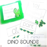 Mini Erasers Dino Sounds Count the Phonemes Task Box (Orton-Gillingham)