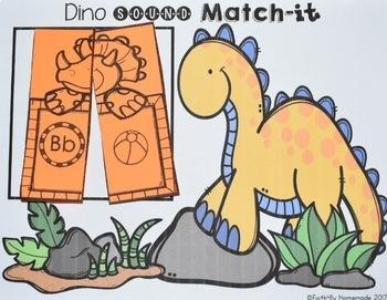 Alphabet Activity Center {Dino Sounds Match-It}