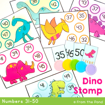 Dino Stomp - Math Print and Play Center Game