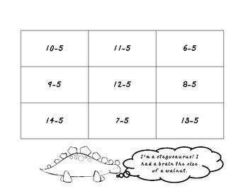Dino Subtract Puzzles