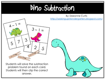 Dino Subtraction