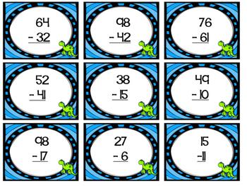 Dino Subtraction - Math Centers #digitaldollarspot