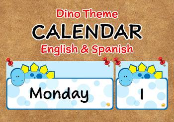 Dino Theme Push Pin Calendar