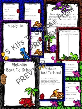 Dino Themed Open House/Back To School Night Starter Kits!