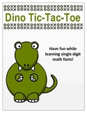Dino Tic-Tac-Toe (Math Facts)