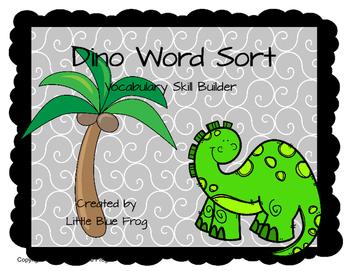 Dino Word Sort (vocabulary skill building)