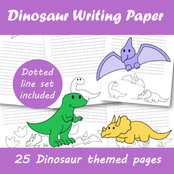 Dino Writing Paper