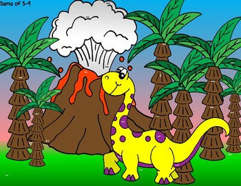 Dino-mite Addition Facts--A Magnify Me Activity for Basic Addition Facts