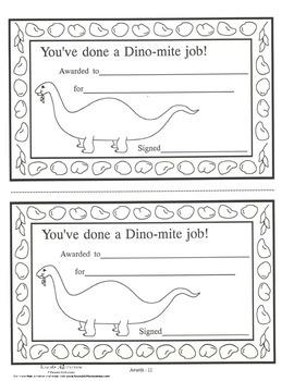 Dino-mite Award