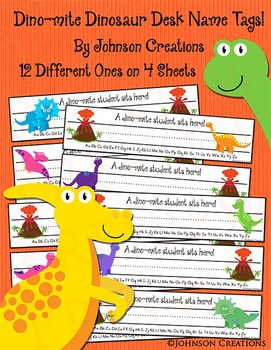 Dino-mite Dinosaur Desk Name Tags