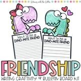 Dino-mite Friends {Dinosaur Themed Writing Craftivity and Bulletin Board Kit}