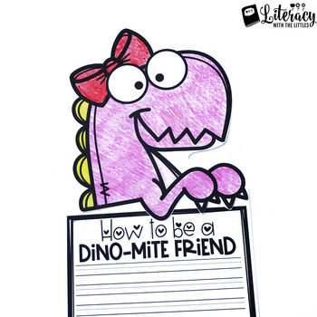 Dino-mite Friends {Dinosaur Themed Writing Craftivity and Bulletin Board Kit}