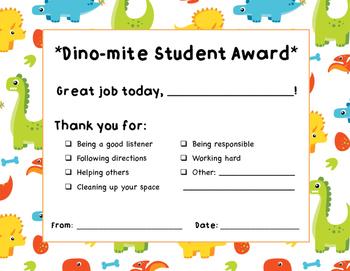 Dino-mite Student Award