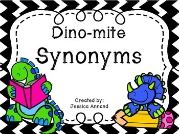 Dino-mite Synonyms Task Cards / SCOOT
