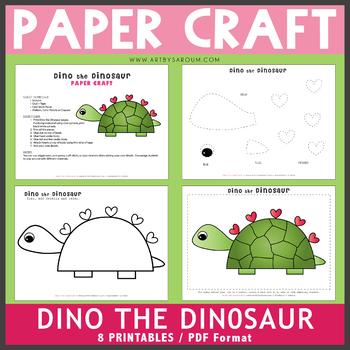 Dino The Dinosaur Paper Craft By Saroum V Giroux Doodle Thinks