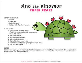 Dino the Dinosaur Paper Craft