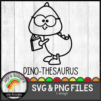 Dino-thesaurus (dinosaur) SVG Image